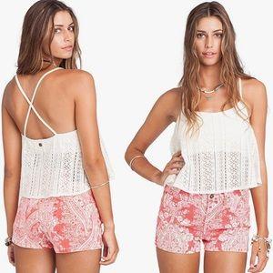 2/$15 Billabong 'Lovers Sun' Lace Knit Crop Top